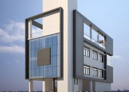 Rear Elevation of spyn Office 3D