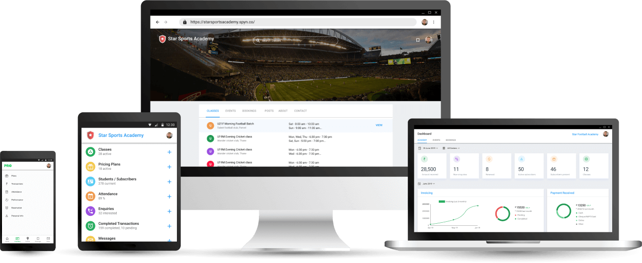 Academy Management Software on all devices