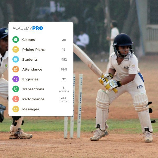 Cricket Coaching Academy Management App