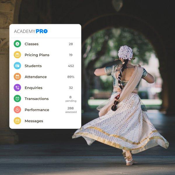 Dance Class Academy Management App