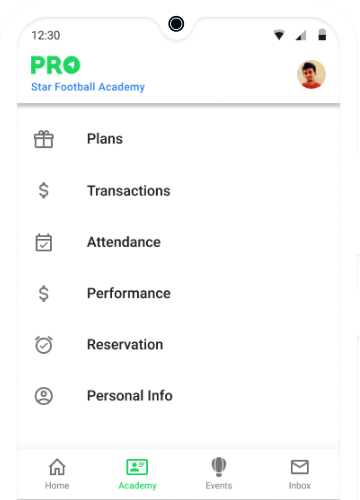 App for Football Coaching Students