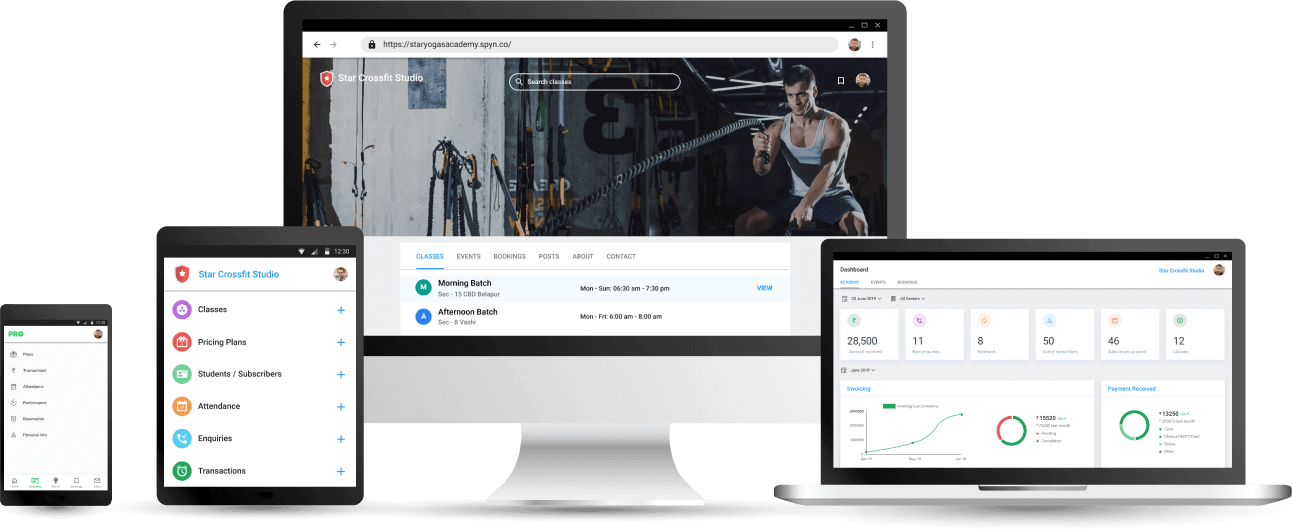 Crossfit Training Studio Management App - Cloud based Software