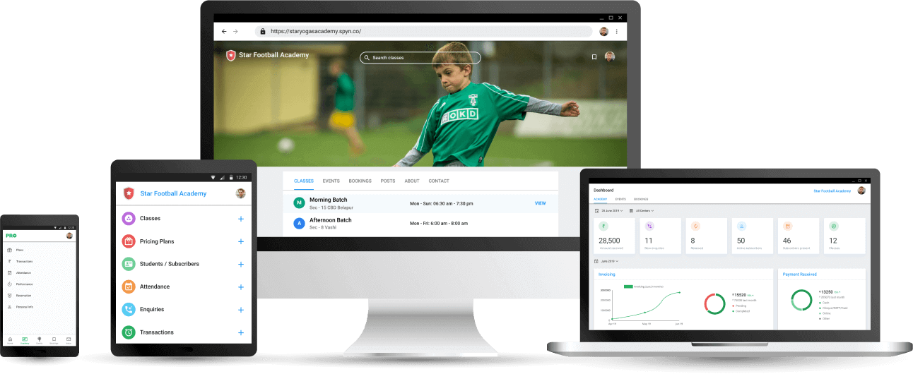 Football Coaching Academy Management App - Cloud based Software