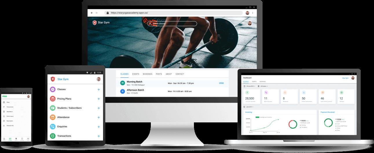 Gym Management App - Cloud based Software