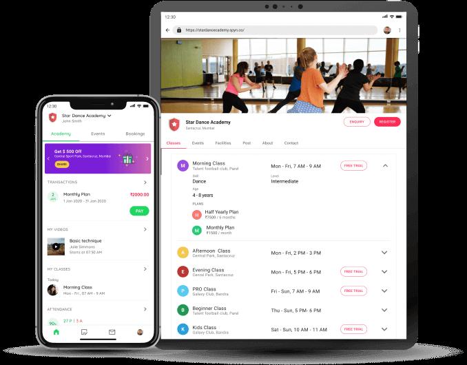 Dance Academy - Student app and Website