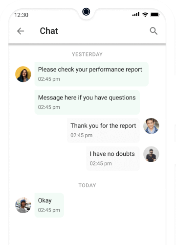 Chat with clients